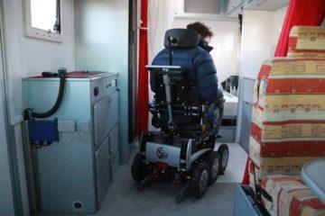 Hoddicé camping-car PMR TPMR aménagé FIAT Ducato fauteuil roulant handicap