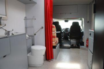 Hoddicé camping-car PMR TPMR aménagé FIAT Ducato toilettes aménagés